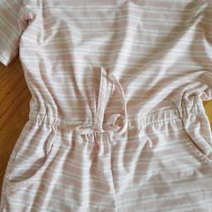 8788a43932ed btween Bottoms - Girls pink striped cold shoulder romper size 10